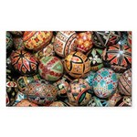Pysanky Group 3 Sticker (Rectangle 10 pk)