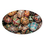 Pysanky Group 3 Sticker (Oval 10 pk)