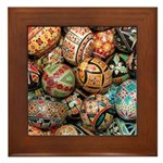 Pysanky Group 3 Framed Tile