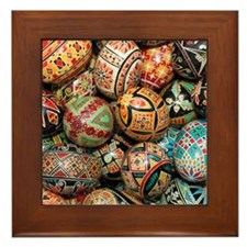 Pysanky Group 3 Framed Tile