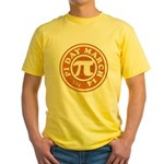 Happy Pi Day 3/14 Circular De Yellow T-Shirt