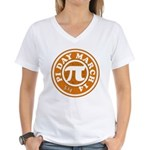 Happy Pi Day 3/14 Circular De Women's V-Neck T-Shi
