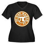 Happy Pi Day 3/14 Circular De Women's Plus Size V-