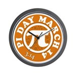 Happy Pi Day 3/14 Circular De Wall Clock