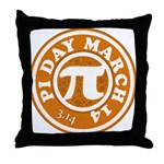 Happy Pi Day 3/14 Circular De Throw Pillow