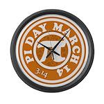 Happy Pi Day 3/14 Circular De Large Wall Clock