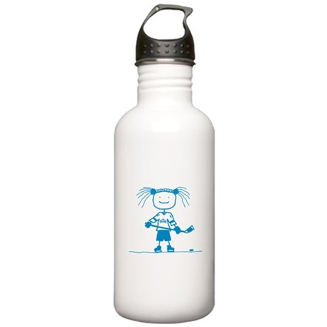 Stick Hockey (Blue): Stainless Water Bottle 1.0L