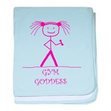 Gym Goddess (Pink): baby blanket