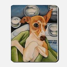Italian Greyhound Puppy Bath Mousepad
