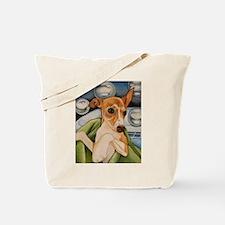Italian Greyhound Puppy Bath Tote Bag