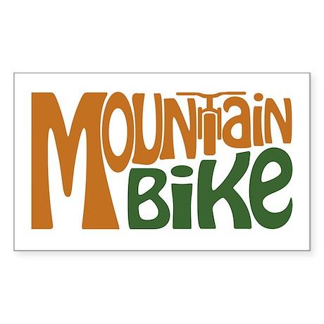 Mountain Bike Sticker (Rectangle)