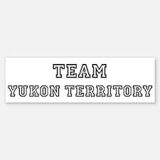 Team Yukon Territory Bumper Bumper Bumper Sticker