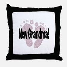 New Grandma (Girl) Throw Pillow