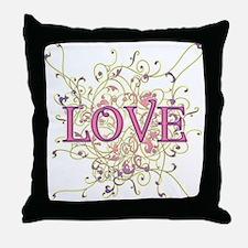 Love Swirl Throw Pillow