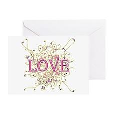 Love Swirl Greeting Card