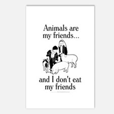 Animals are my friends Postcards (Package of 8)