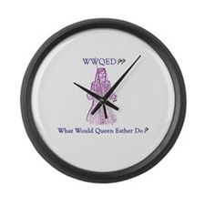 Purim WWQED Large Wall Clock
