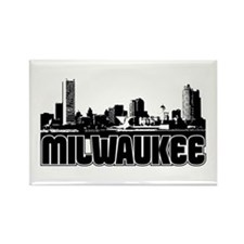 Milwaukee Skyline Rectangle Magnet
