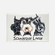 Miniature Schnauzer Lover Rectangle Magnet