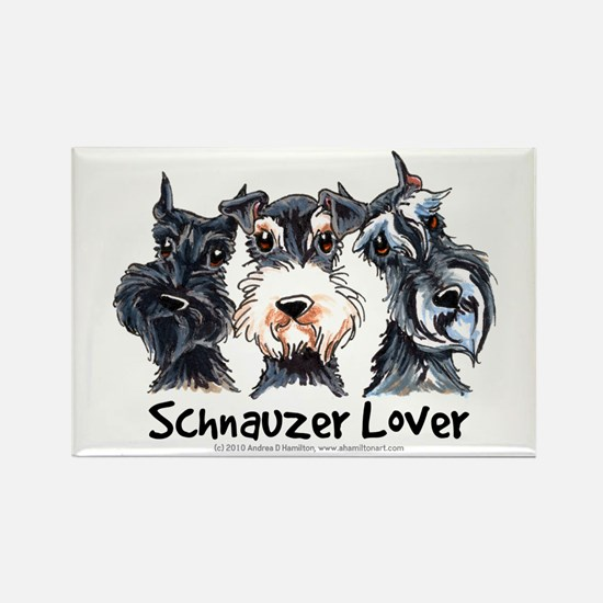 Miniature Schnauzer Lover Rectangle Magnet