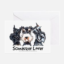 Miniature Schnauzer Lover Greeting Card