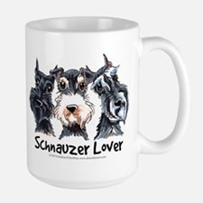 Miniature Schnauzer Lover Large Mug