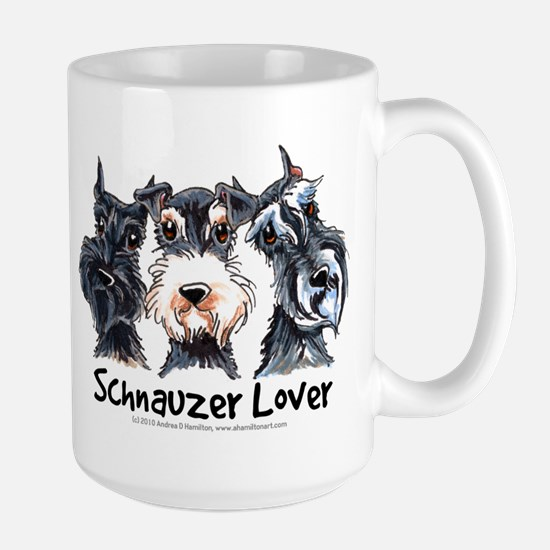Miniature Schnauzer Lover Large Mug