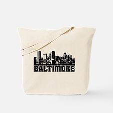 Baltimore Skyline Tote Bag
