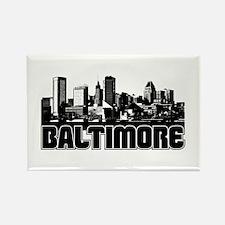 Baltimore Skyline Rectangle Magnet