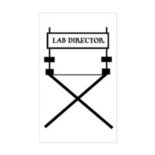 lab director Rectangle Decal