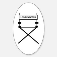 lab director Oval Decal