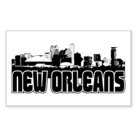 New Orleans Skyline Sticker (Rectangle)