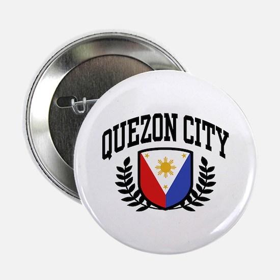 """Quezon City Philippines 2.25"""" Button"""