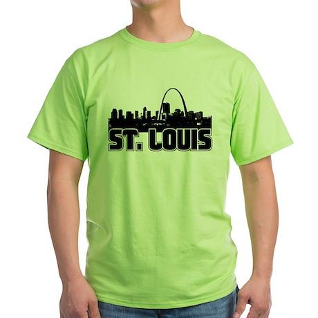 St. Louis Skyline Green T-Shirt