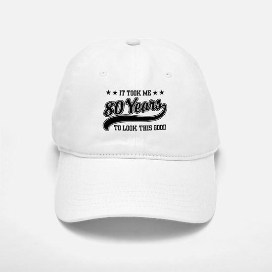 Funny 80th Birthday Baseball Baseball Cap