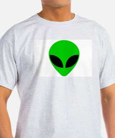 """Alien Head"" Ash Grey T-Shirt"