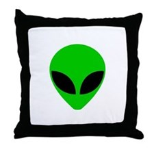 """Alien Head"" Throw Pillow"