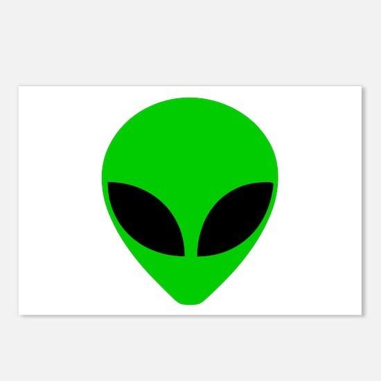 """Alien Head"" Postcards (Package of 8)"