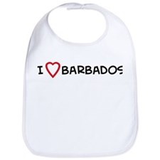 I Love Barbados Bib