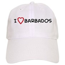 I Love Barbados Baseball Cap