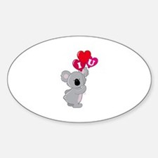 Koala Loves You Sticker (Oval 10 pk)