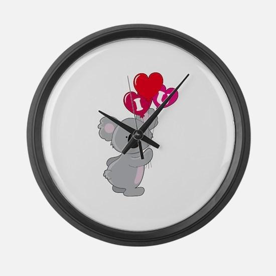 Koala Loves You Large Wall Clock