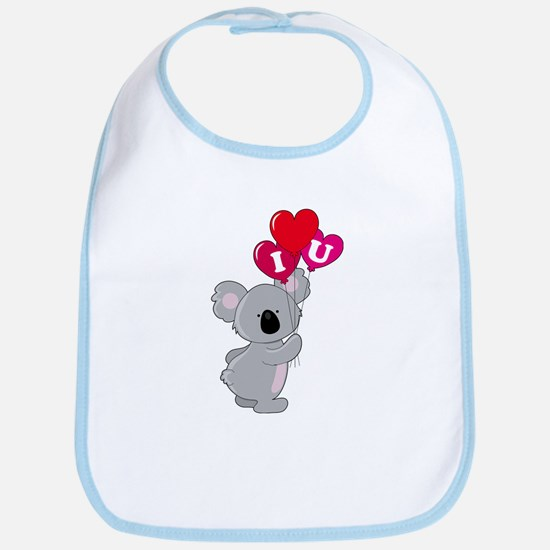 Koala Loves You Bib