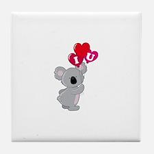Koala Loves You Tile Coaster