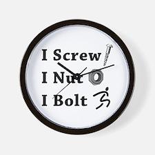 I Screw Nut Bolt Wall Clock