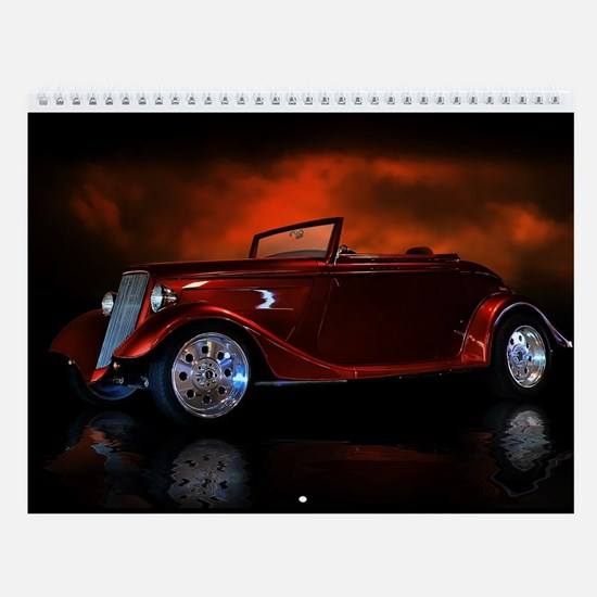 Hot Rod Wall Calendar Convertibles 1