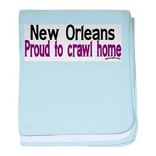 NOLA Crawl Home baby blanket