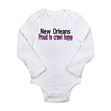NOLA Crawl Home Long Sleeve Infant Bodysuit