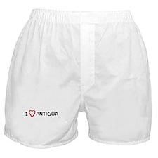 I Love Antigua Boxer Shorts