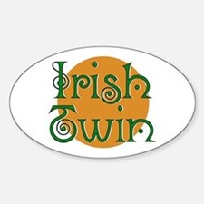 Irish Twin Oval Decal